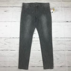 Michael Kors Emmanulle gray wash skinny jeans L30